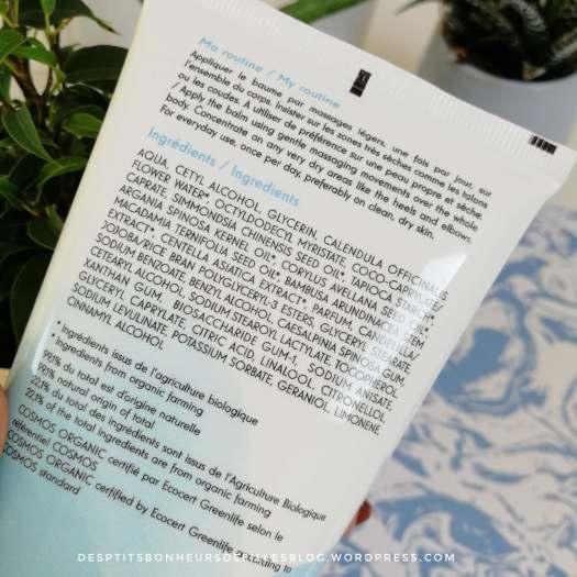 composition baume nourrissant belle & bio